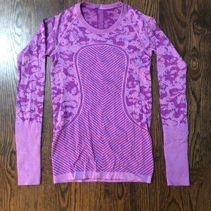 Lululemon Swiftly Long Sleeve Purple Camo Shirt